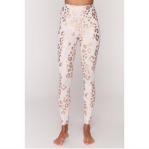 Spiritual Gangster Pink Lux Cheetah Leggings